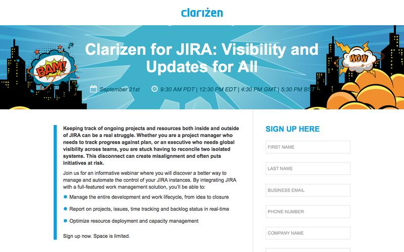 Clarizen for JIRA: Visibility and Updates for All
