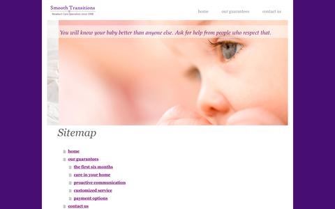 Screenshot of Site Map Page smoothtransitions.net - smooth transitions | (303) 635-0979 - captured Oct. 26, 2014