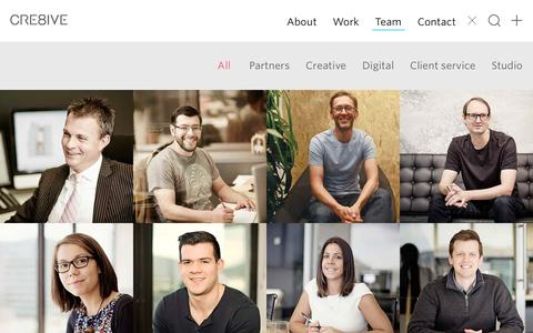 Screenshot of Team Page cre8ive.com.au - Cre8ive Team Members � CRE8IVE - captured Dec. 6, 2015