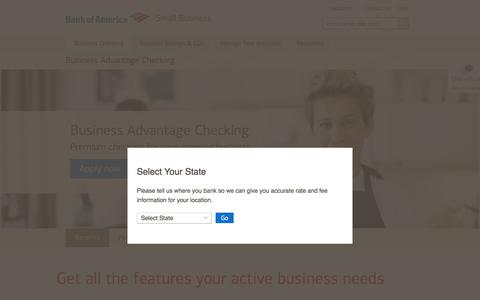 Business Advantage Checking Account from Bank of America