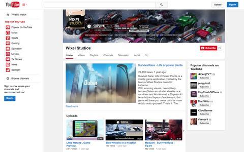 Screenshot of YouTube Page youtube.com - Wixel Studios  - YouTube - captured Oct. 22, 2014