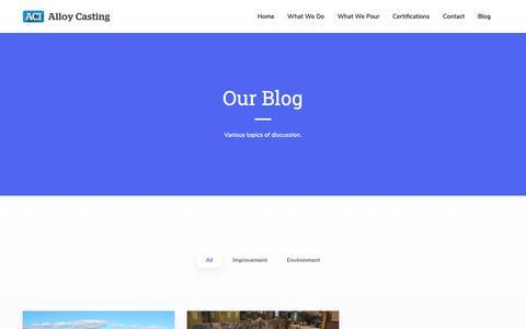Screenshot of Blog alloycasting.com - Blog | Alloy Casting Foundry - captured Oct. 3, 2018