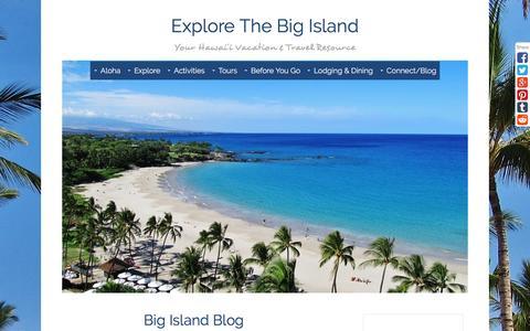 Screenshot of Blog explore-the-big-island.com - Big Island Blog - captured Sept. 4, 2016
