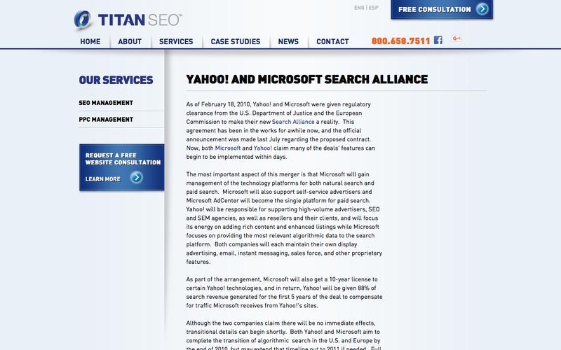 Yahoo! and Microsoft Search Alliance Gets the Thumbs-Up.