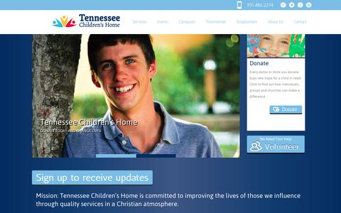 Screenshot of Home Page tennesseechildrenshome.org - Tennessee Children's Home - captured Nov. 8, 2017