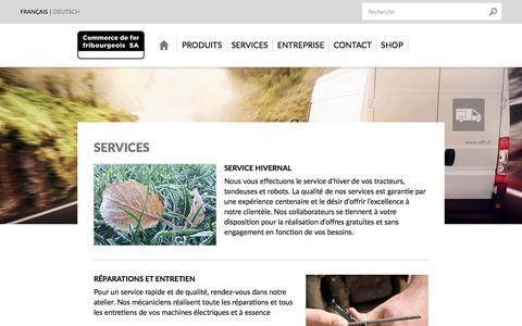 Screenshot of Services Page cdff.ch - Services - Commerce de fer fribourgeois SA, votre partenaire pour la construction - captured Aug. 18, 2017