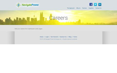 Screenshot of navigatepower.com - Careers | Navigate - captured Aug. 14, 2015