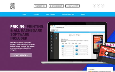 Screenshot of Pricing Page sharetapes.com - Sharetapes For Brands - captured Oct. 19, 2018