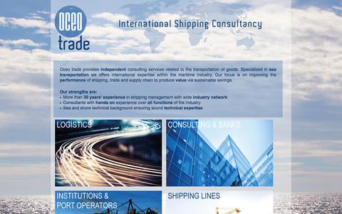 Screenshot of Home Page oceotrade.com - Oceotrade - International shipping consultancy - captured Jan. 29, 2015