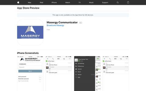 Masergy Communicator on the AppStore