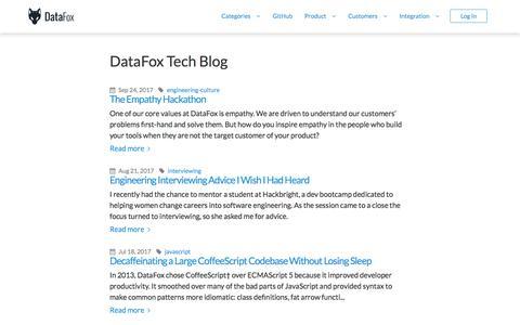 DataFox Tech Blog