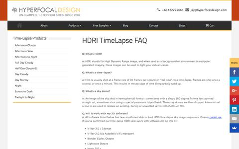 Screenshot of FAQ Page hyperfocaldesign.com - HDRI TimeLapse FAQ – Hyperfocal Design - captured Sept. 8, 2018