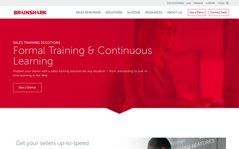Sales Training Solutions | Brainshark | Brainshark