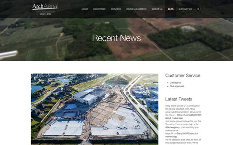 Screenshot of Blog archaerial.com - Blog for Drone Services by Experts in Unmanned Services - captured July 30, 2018