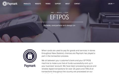 Screenshot of Products Page paymark.co.nz - Paymark - EFTPOS - captured May 15, 2017