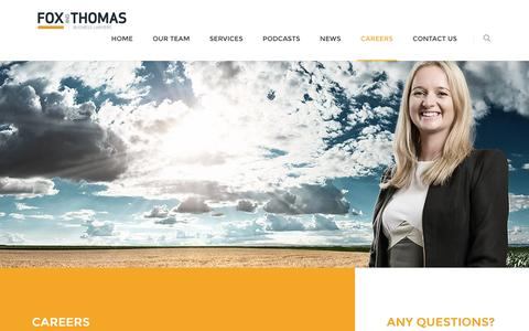 Screenshot of Jobs Page foxthomas.com.au - Fox & Thomas | Careers - captured Nov. 25, 2016