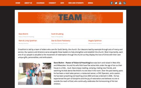 Screenshot of Team Page crosspointwestallis.com - Crosspoint Church | Team - captured Oct. 3, 2014