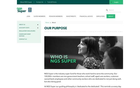 Our Purpose » NGS Super