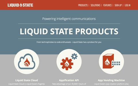 Screenshot of Products Page liquid-state.com - Products - Liquid State - Powering intelligent communications - captured Dec. 4, 2015