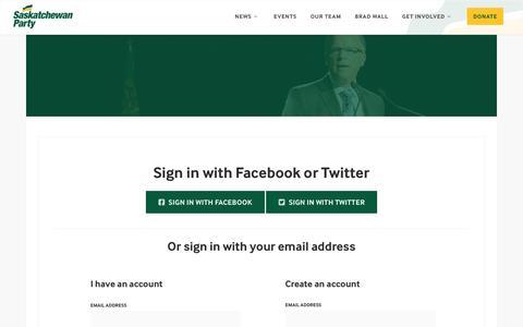 Screenshot of Login Page nationbuilder.com - Sign in - captured June 20, 2016