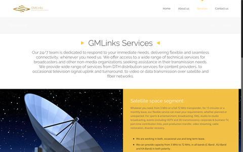 Screenshot of Services Page gmlinks.com - Services – GMLinks - captured Oct. 28, 2016