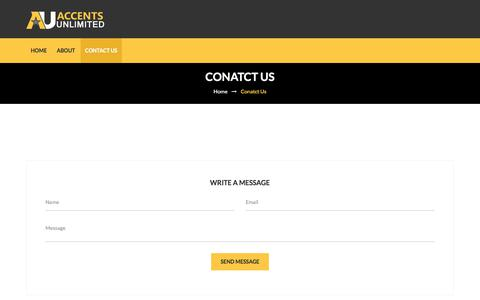 Screenshot of Contact Page accentsunlimited.net - Contact | Accentsunlimited.net - captured Oct. 7, 2017