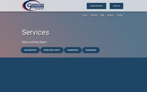 Screenshot of Services Page computer-techy.com - Computer Technologies Group, Inc. - IT Services For New England - captured Sept. 28, 2018