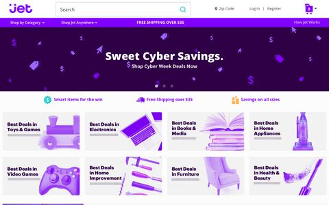 Screenshot of Home Page jet.com - Jet.com - captured Nov. 27, 2015