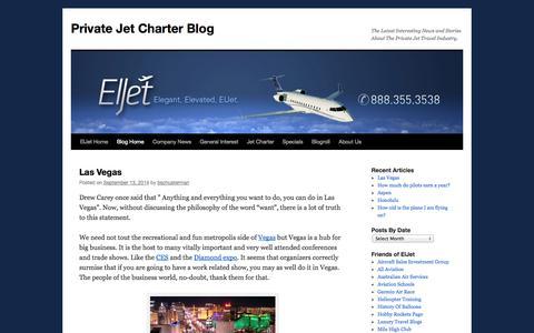 Screenshot of Blog ellejet.com - ElJet Private Jet Charter BlogPrivate Jet Charter Blog | The Latest Interesting News and Stories About The Private Jet Travel Industry. - captured Sept. 19, 2014
