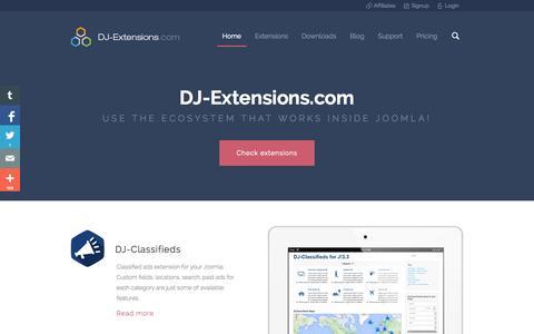 Screenshot of Home Page dj-extensions.com - Best Joomla Extensions ● Dj Extensions ● Joomla extension ● DJ-Extensions.com - captured Jan. 21, 2015