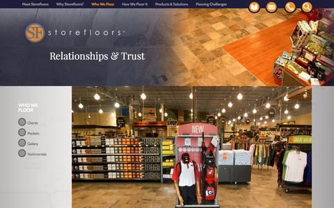Screenshot of Testimonials Page storefloors.com - Who We Floor at Storefloors - captured Feb. 25, 2016