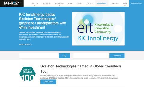 Screenshot of Press Page skeletontech.com captured Feb. 4, 2016