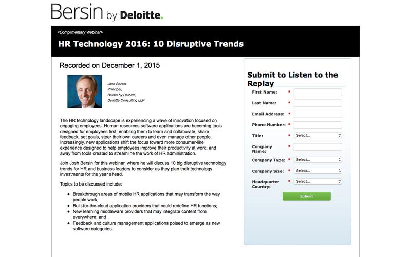 HR Technology 2016: 10 Disruptive Trends
