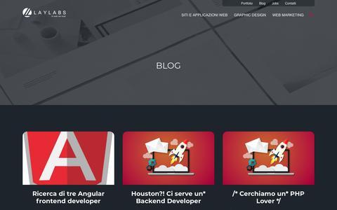 Screenshot of Blog laylabs.it - Blog - Laylabs - captured Sept. 27, 2018