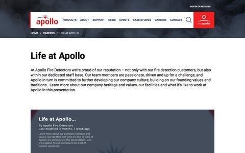 Screenshot of Team Page apollo-fire.co.uk - Apollo Fire - Life at Apollo - captured July 8, 2017