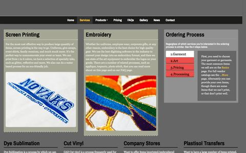 Screenshot of Services Page threads-ink.com - Threads Ink - Services - captured Oct. 7, 2014