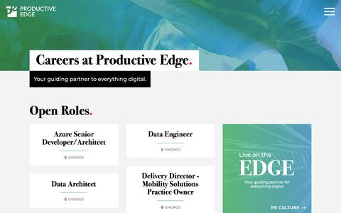 Screenshot of Jobs Page productiveedge.com - Careers | Productive Edge - captured Nov. 13, 2018