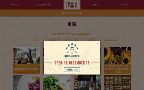 Screenshot of Blog wearefoundingfarmers.com - Blog | Founding Farmers - captured Nov. 25, 2016