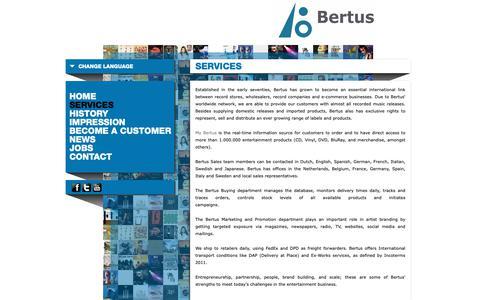 Screenshot of Services Page bertus.com - Services - Bertus Groothandel en Distributie - captured Oct. 5, 2018