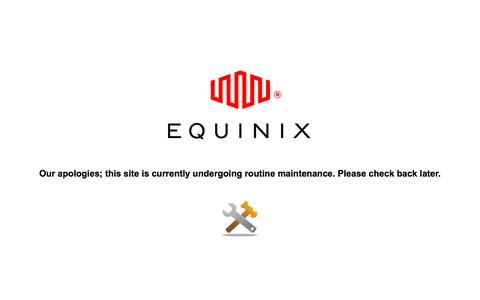 Screenshot of Home Page equinix.com - Global Data Centers | Low Latency Colocation for Financial, CDNs, Enterprise & Cloud Networks by Equinix - captured Jan. 14, 2018