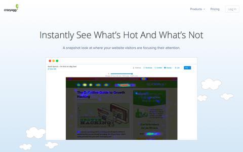 The Original Website Heatmap Tool - Crazy Egg