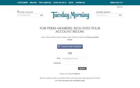 Login - Tuesday Morning