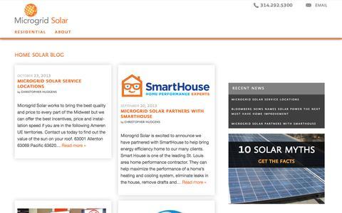 Screenshot of Blog microgrid-solar.com - Home Solar Blog   Microgrid Solar - captured Aug. 10, 2016