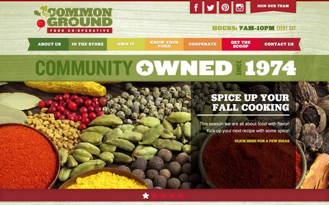 Screenshot of Menu Page commonground.coop - Common Ground - captured Nov. 2, 2014