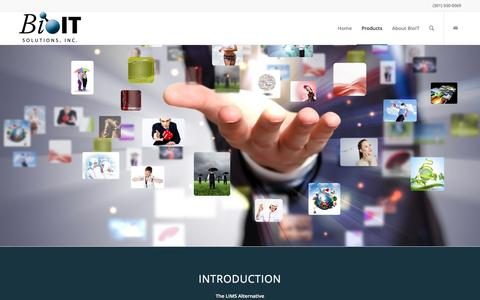 Screenshot of Products Page bioit.com - 1Platform4 - captured Nov. 22, 2016