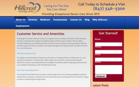 Screenshot of Support Page hillcrestcares.com - Hillcrest Nursing Center Learn more about Hillcrest Nursing Center in Lake County - captured Jan. 30, 2016