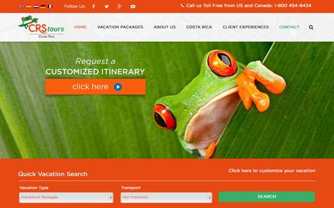 Screenshot of Blog crstours.com - CRS Tours - Costa Rica vacation packages - Cheap holidays Costa Rica - captured Oct. 1, 2014