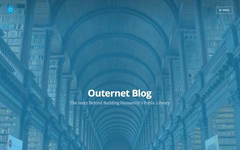 Screenshot of Blog outernet.is - Outernet Blog - captured Dec. 3, 2015