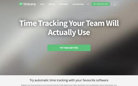 Screenshot of Home Page timecamp.com - Automatic Time Tracking Software | TimeCamp - captured Sept. 17, 2014