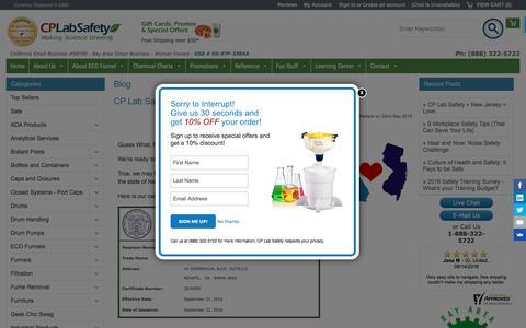 Screenshot of Blog calpaclab.com - Blog - CP Lab Safety - captured Oct. 9, 2016